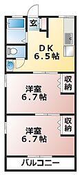 シティハイムナラシノ[201号室]の間取り
