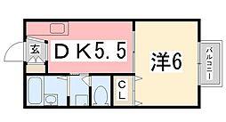 メゾン堀川C棟[2階]の間取り