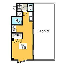 キュウブEX三俣[4階]の間取り
