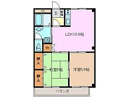 エスパシオ桜 A棟[1階]の間取り