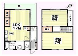 [一戸建] 千葉県千葉市中央区矢作町 の賃貸【/】の間取り