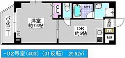 大阪府大阪市大正区三軒家西1丁目の賃貸マンションの間取り