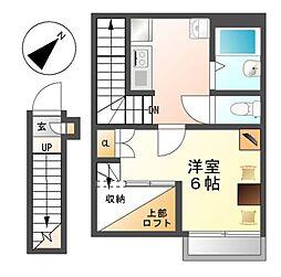 レオパレスJoy[2階]の間取り