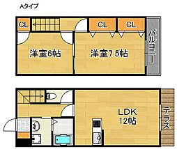 セピアコート泉佐野[1階]の間取り