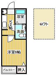 愛知県名古屋市中川区荒子町字大門西の賃貸アパートの間取り