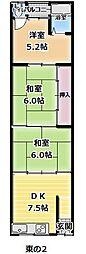 [タウンハウス] 大阪府大阪市平野区加美北6丁目 の賃貸【/】の間取り