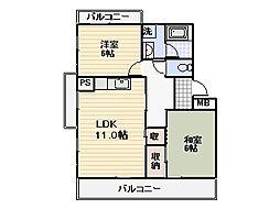 シティホールOZONO[2階]の間取り