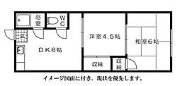 平山アパート[202号室]の間取り