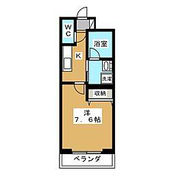 ベラジオ京都西院ウエストシティ[2階]の間取り