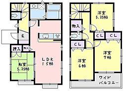 [一戸建] 神奈川県平塚市西真土1丁目 の賃貸【/】の間取り