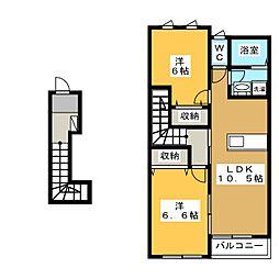 ピクシーハイツ[2階]の間取り