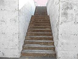 ゆるやかな階段...
