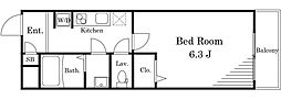 LIVLI・ひまわり荘II[201号室]の間取り