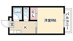 愛知県名古屋市昭和区駒方町2丁目の賃貸アパートの間取り