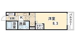 鶴野リバーサイドテラス[2階]の間取り