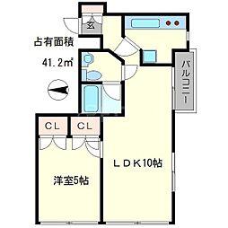コアロード糺ノ森[4階]の間取り