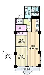 小石川安藤坂東方マンション[4階]の間取り