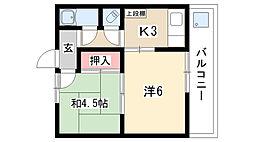 愛知県名古屋市昭和区恵方町2丁目の賃貸マンションの間取り