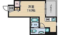 FEEL三国[5階]の間取り