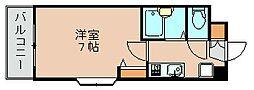 ピュア県庁北[3階]の間取り