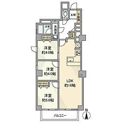 中野ハイム 2階3LDKの間取り