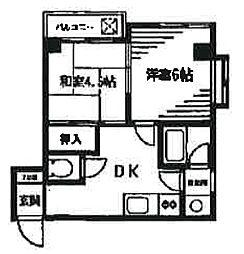 秋谷ビル[4階]の間取り
