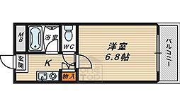 フローラル横堤3階Fの間取り画像