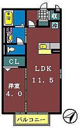 イオソレーユ 2[105号室]の間取り