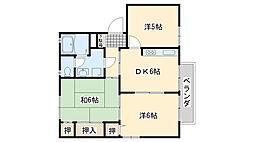 アベリア新家B棟[201号室]の間取り