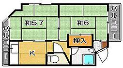 井河マンション[201号室]の間取り
