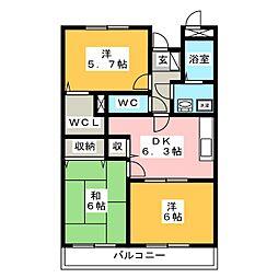 ルーシャス21[2階]の間取り