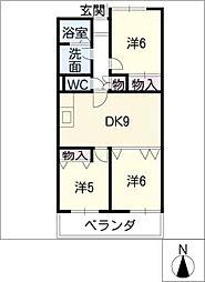 ファーストステージ清水ケ岡[3階]の間取り