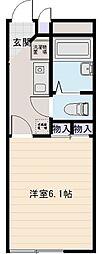 アベンタ神武[1階]の間取り