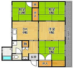中山五月台住宅3号棟[1階]の間取り