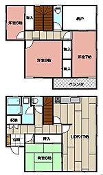 [一戸建] 福岡県北九州市八幡西区力丸町 の賃貸【/】の間取り