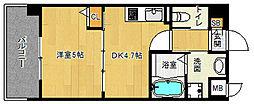 「アクアプレイス京都西院」[7階]の間取り