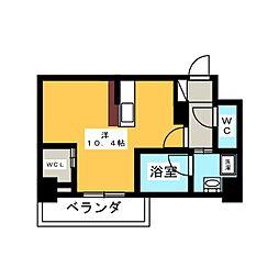 ハーモニーレジデンス名古屋新栄[5階]の間取り