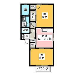 ベルサイド[1階]の間取り