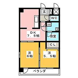willDo桜川[8階]の間取り