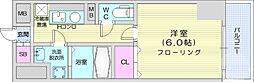 CINZA上杉1丁目 6階1Kの間取り