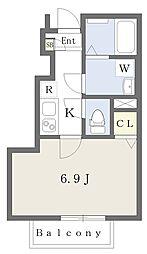 東武東上線 成増駅 徒歩12分の賃貸アパート 1階1Kの間取り