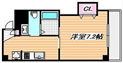 東京メトロ東西線 浦安駅 徒歩6分の賃貸マンション 3階1Kの間取り
