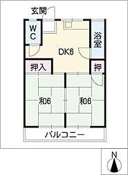 コーポ八事[2階]の間取り