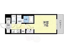 Osaka Metro中央線 九条駅 徒歩4分の賃貸マンション 9階1Kの間取り