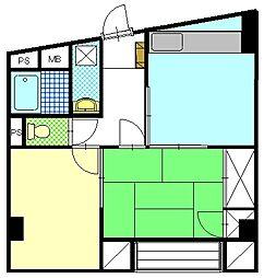 ルーミナスマンション[402号室]の間取り
