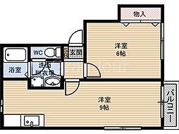 第2テラダハイツ[2階]の間取り