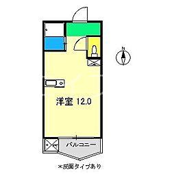 大津スカイハイツ[2階]の間取り