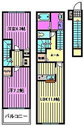 Beel-Fleur[2階]の間取り