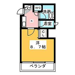 マストスタイル東別院[5階]の間取り