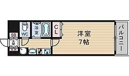 エステムコート難波センチュリオ[6階]の間取り
